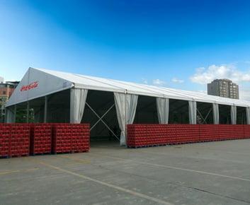 Coca Cola Temporary Warehouse Tent