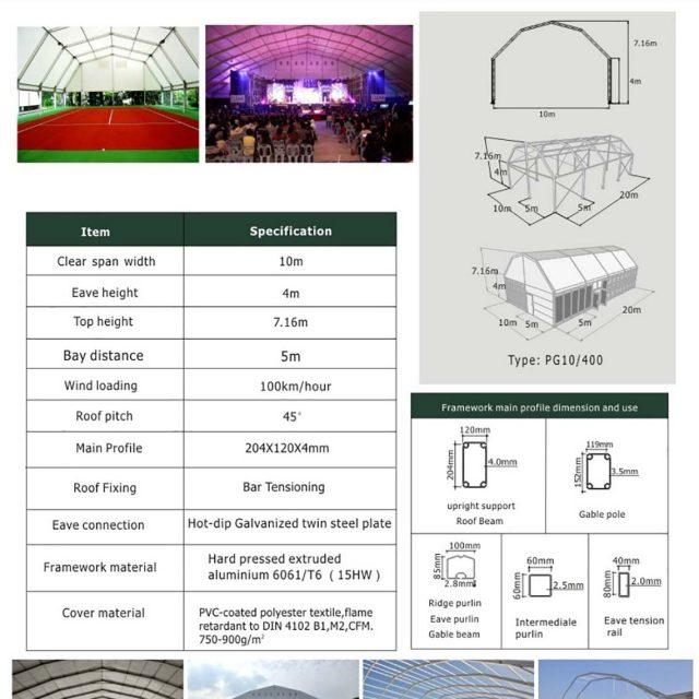 10m Span Polygon tent