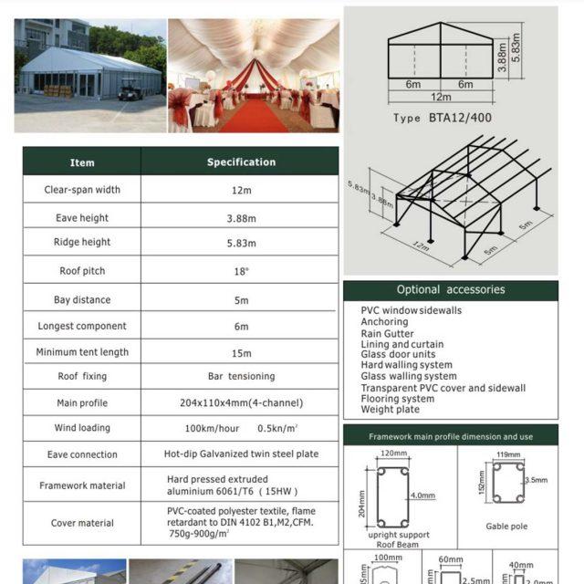 12m Span Big Tent BTA