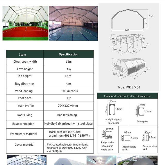 12m Span Polygon tent