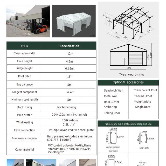 12m Span Warehouse Tents