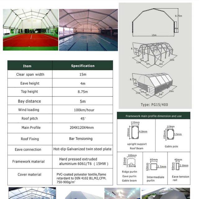 15m Span Polygon tent