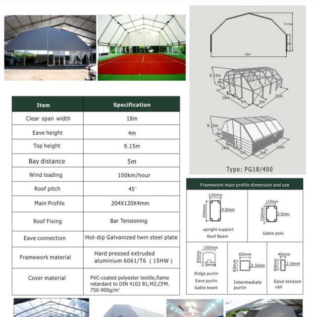 18m Span Polygon tent
