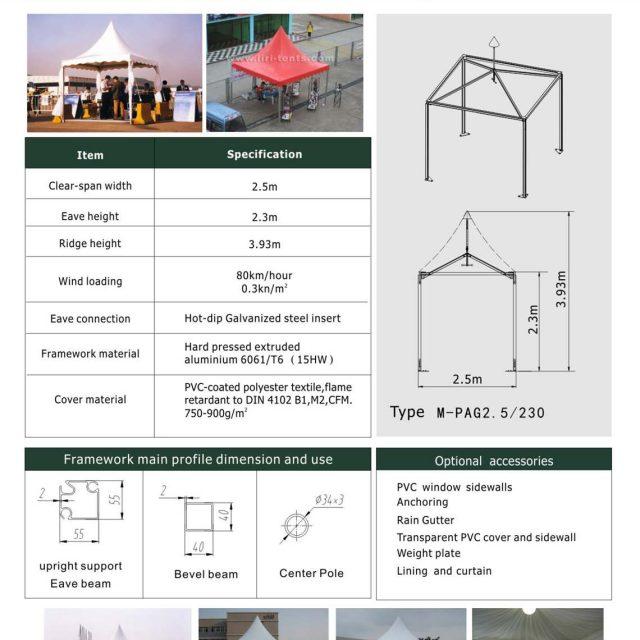 2.5m Span Mini Pagoda