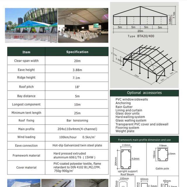 20m Span Big Tent BTA