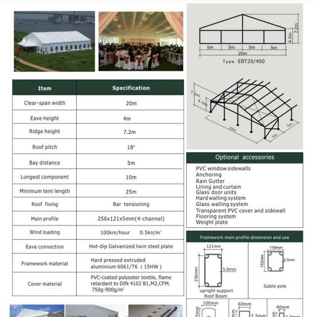 20m Span Big Tent EBT