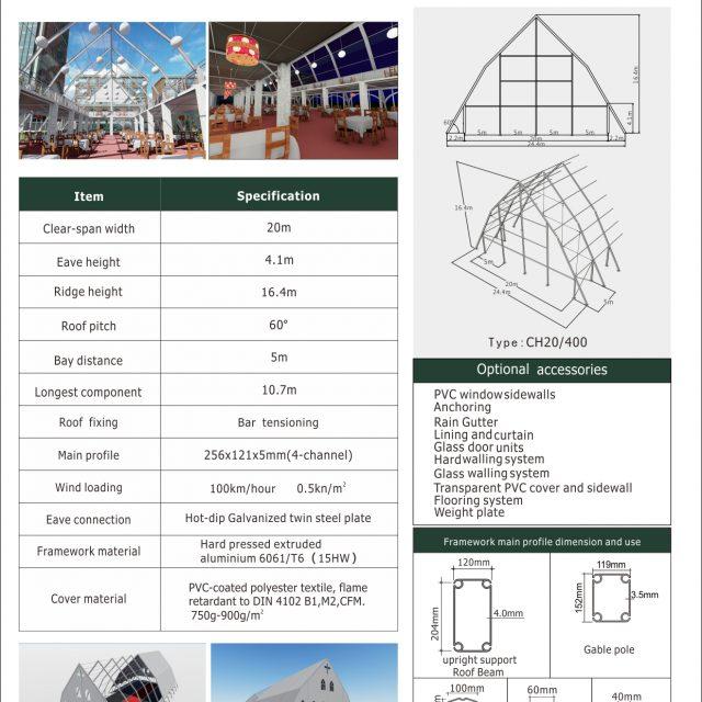 20m Span Church Tent