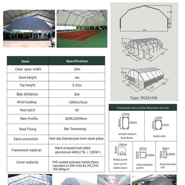 20m Span Polygon tent