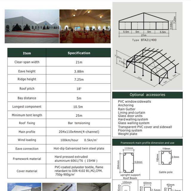 21m Span Big Tent BTA