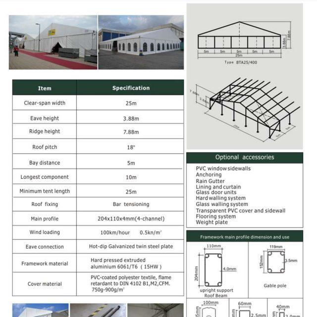 25m Span Big Tent BTA