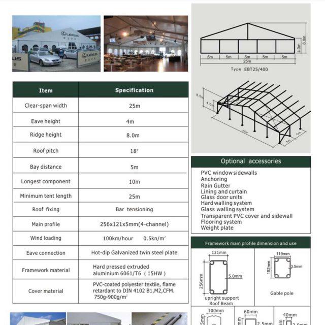 25m Span Big Tent EBT