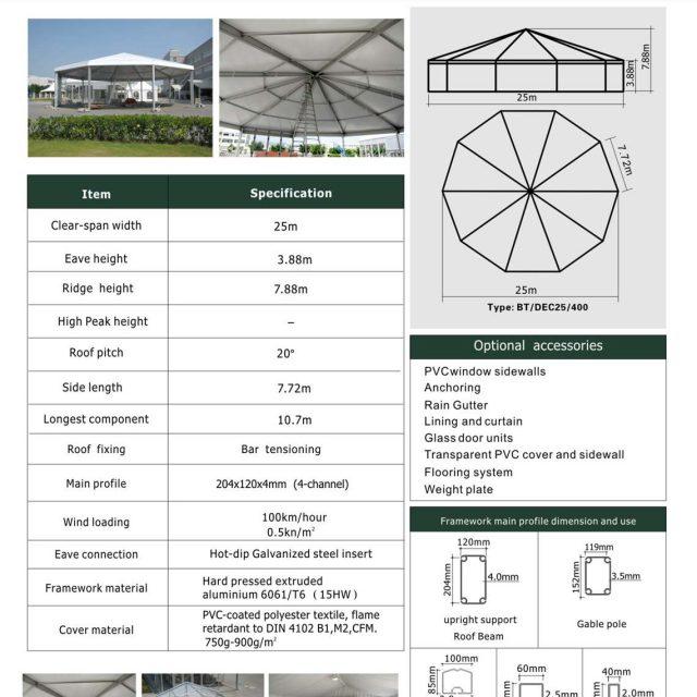 25m Span Decagonal Big Tent