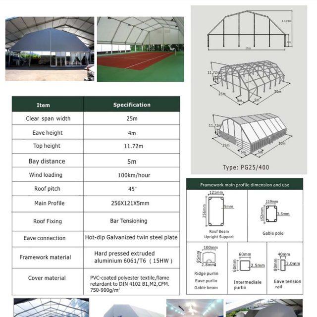 25m Span Polygon tent