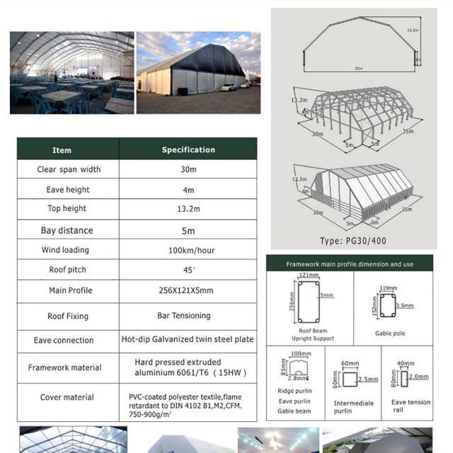30m Span Polygon tent