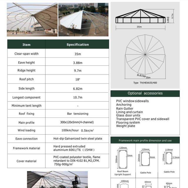 35m SHexadecagon Tent