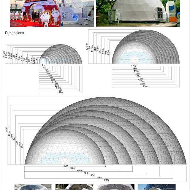 3m-60mSpan Half Sphere Tent