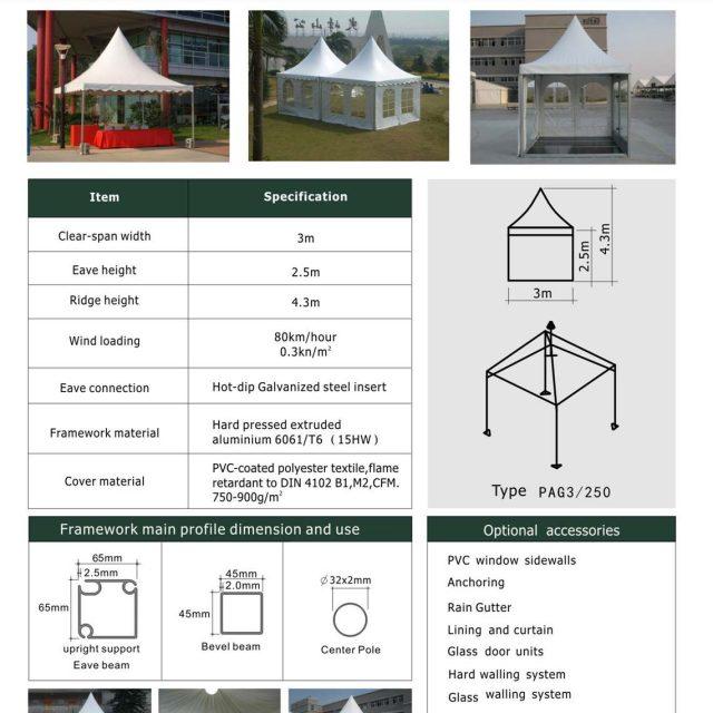 3m Span Pagoda Tent