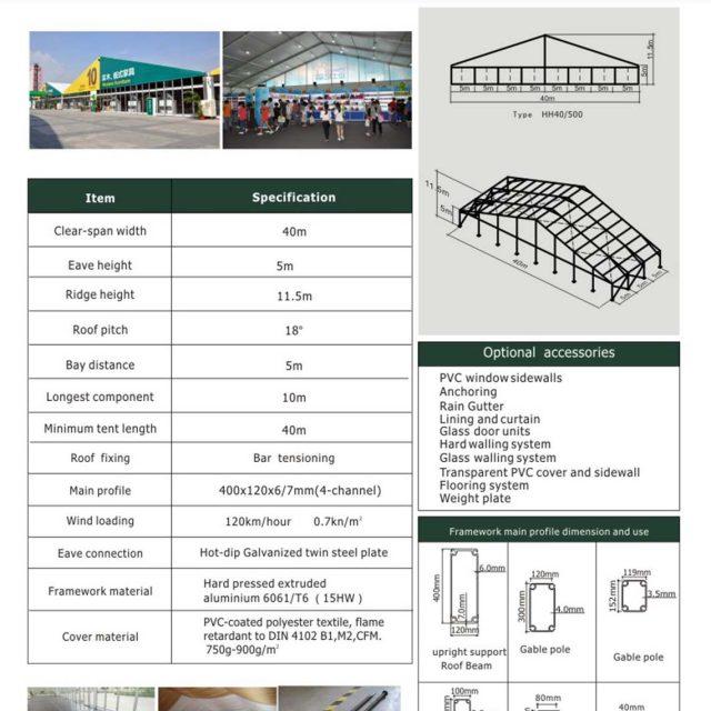 40m Span Huge Tent Hall