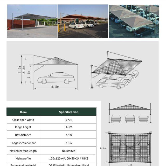 5.5m Carport Tent