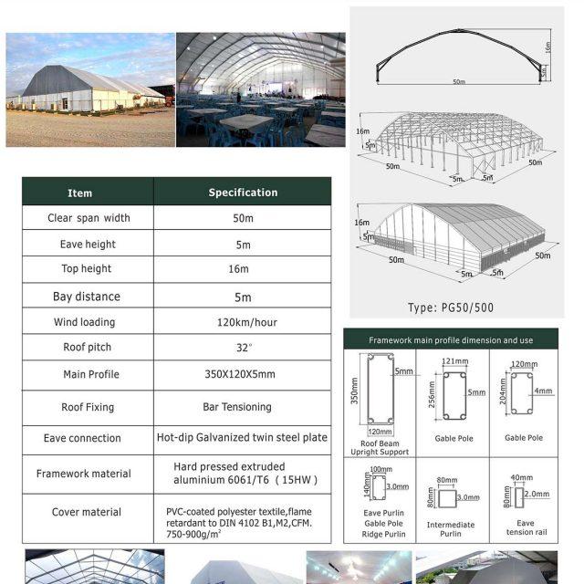 50m Span Polygon tent