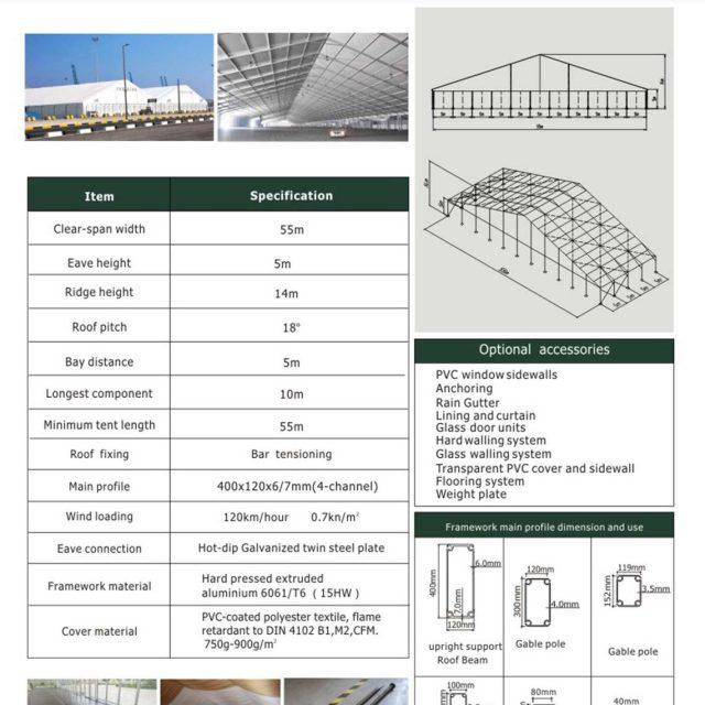 55m Span Huge Tent Hall