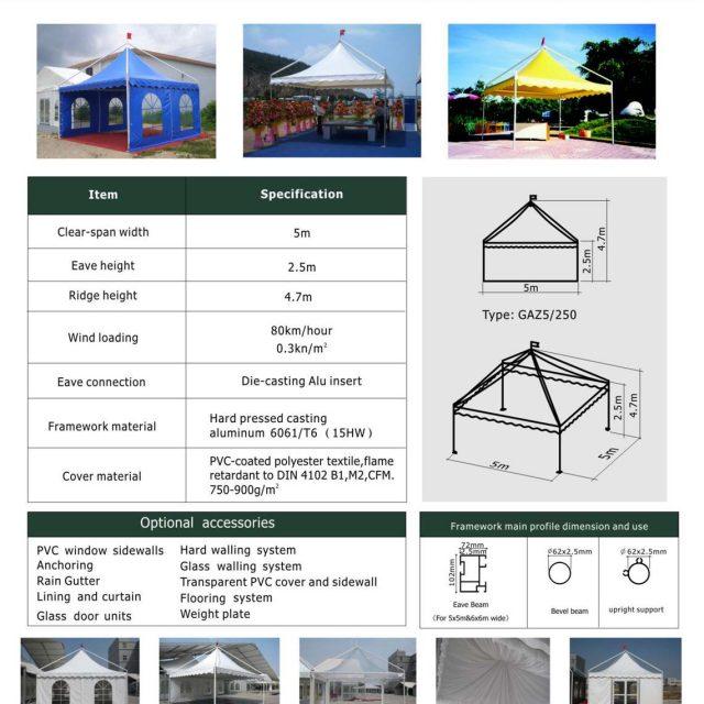 5m Span Gazebo Tent