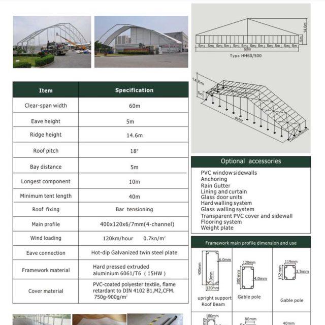 60m Span Huge Tent Hall