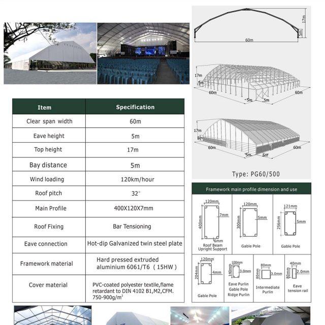 60m Span Polygon tent