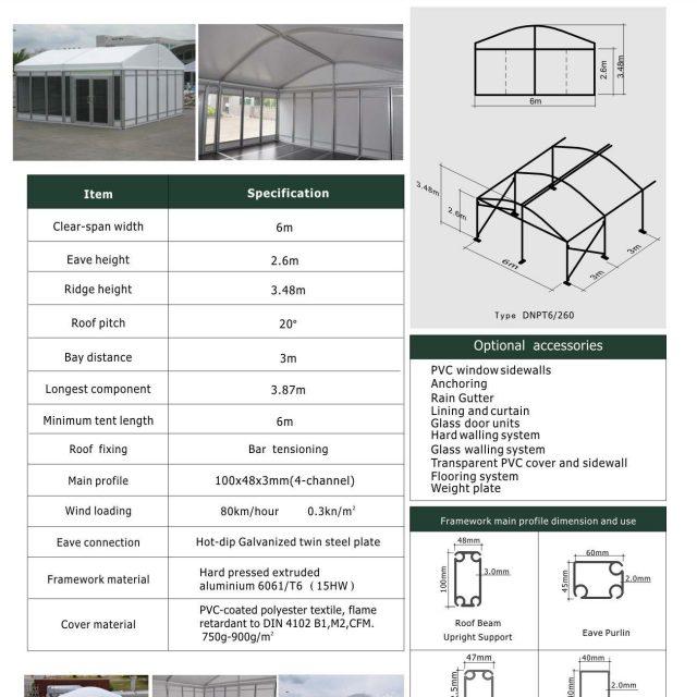 6m Span Dome Mini Tent