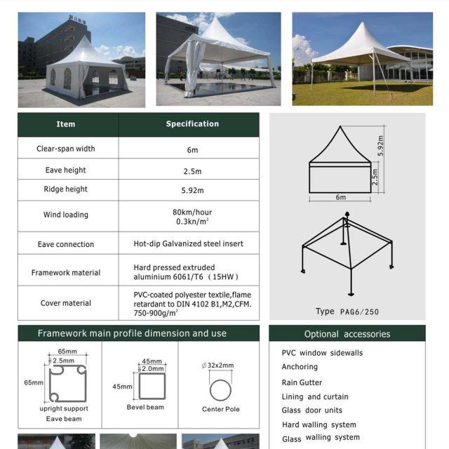 6m Span Pagoda Tent