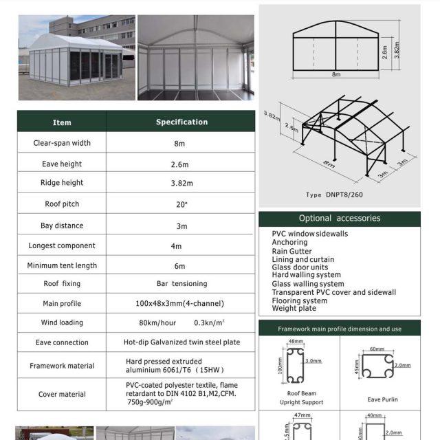 8m Span Dome Mini Tent