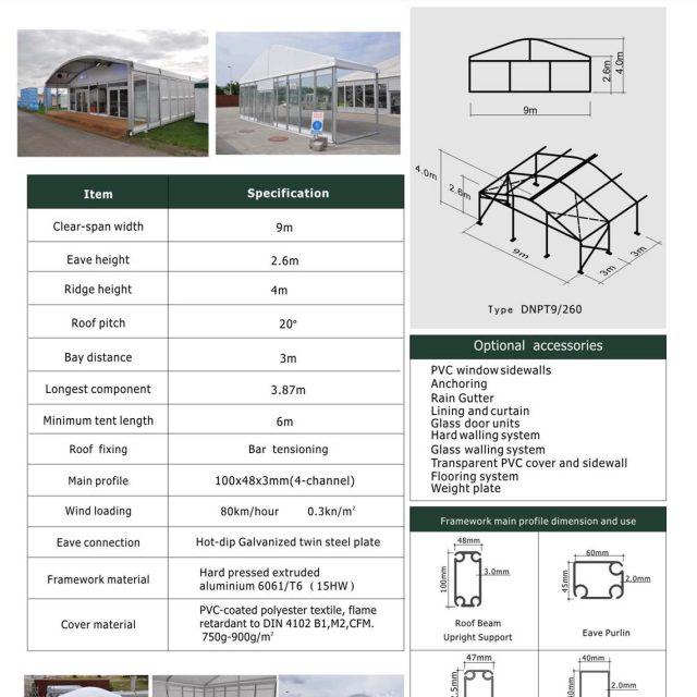 9m Span Dome Mini Tent