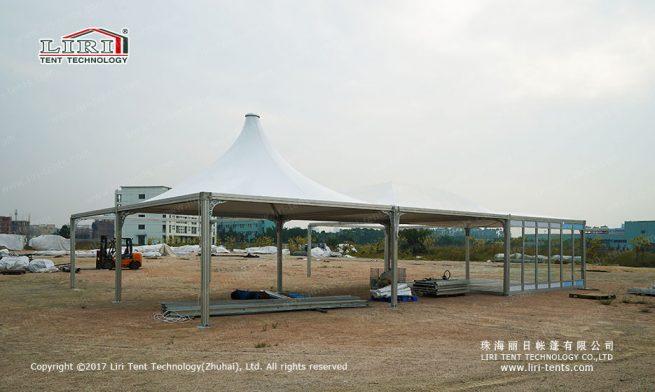 Pyramid Tents Set up