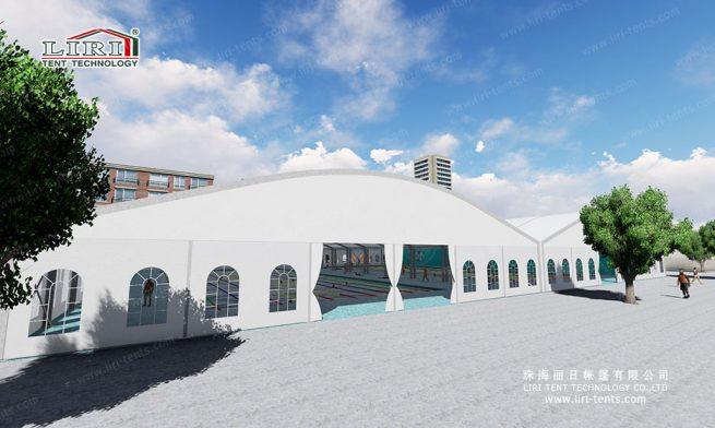 Swimming Stadium tent introduce