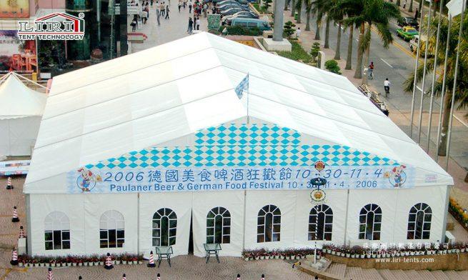 big tent with window sidewalls