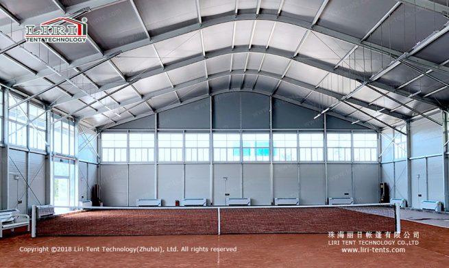 large Indoor Tennis Court