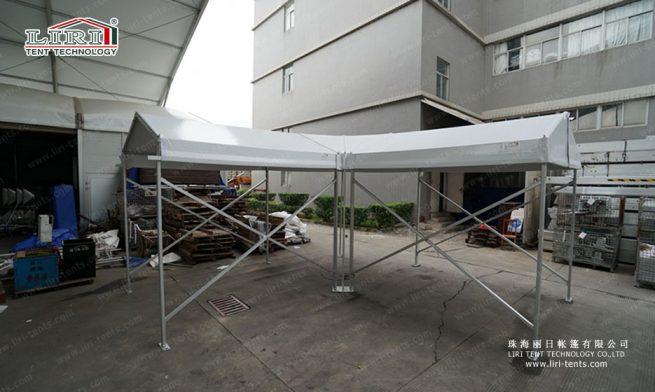small tent of walkway corner