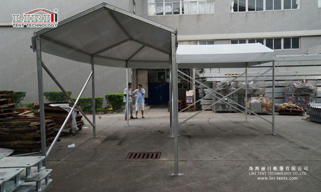 small walkway corner tent