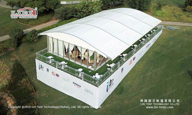 tent with arcum cover