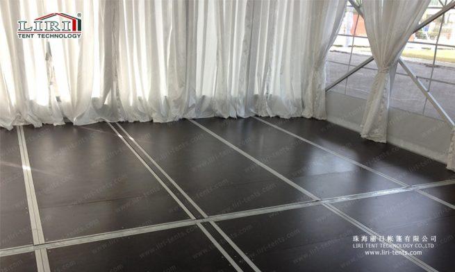 tent wood floor