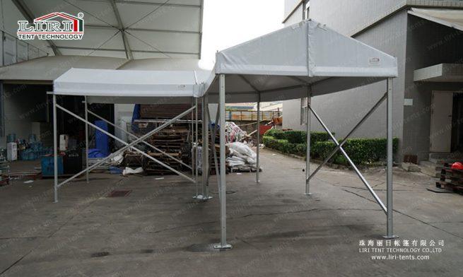 walkway corner tent