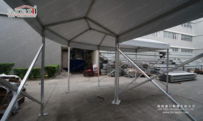 walkway corner tent of 90°