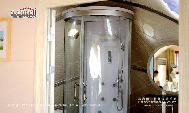 Shell Tent bathroom