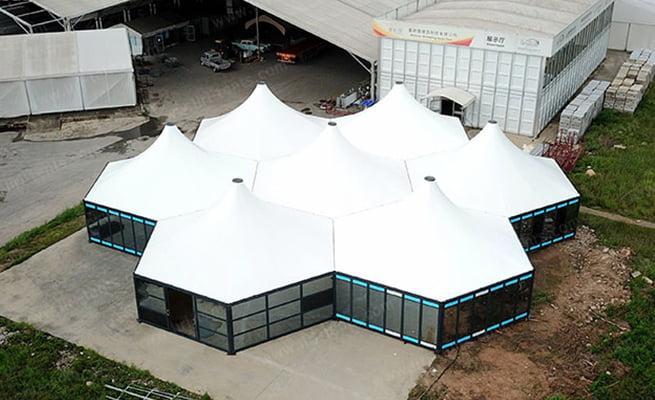 Hexagonal Modular Tents Introduce video