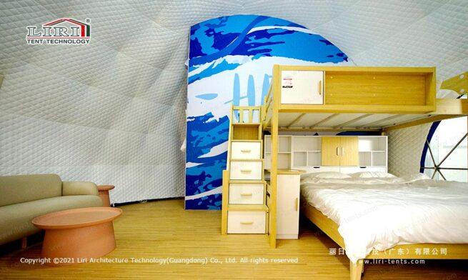 Ladybug Dome Glamping shower room 2